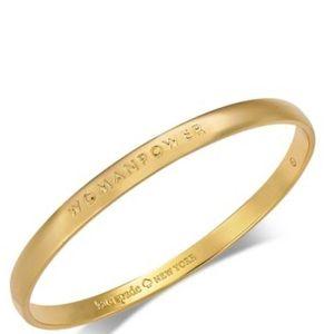 NWT Kate Spade Gold Tone Womanpower Bracelet
